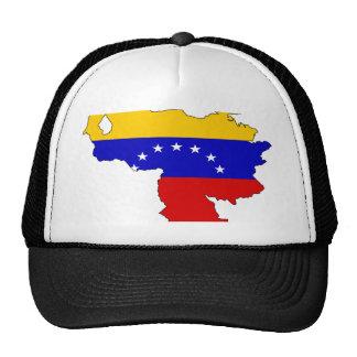 Mapa de la bandera de Venezuela Gorra