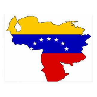 Mapa de la bandera de Venezuela Postal
