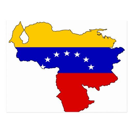 Mapa de la bandera de Venezuela Tarjeta Postal