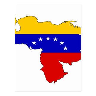 Mapa de la bandera de Venezuela Postales