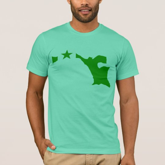 Mapa de la bandera del esperanto camiseta
