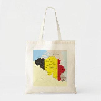 Mapa de la bolsa de asas de Bélgica