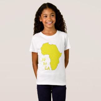 Mapa de la camiseta de África