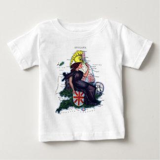 Mapa de la caricatura de Inglaterra Camisetas