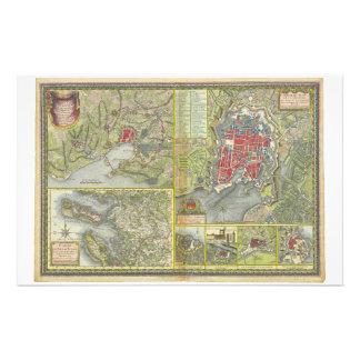 Mapa de la ciudad de La Rochelle y de Aunis Franci