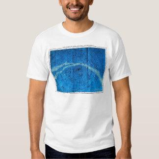 Mapa de la constelación del vintage camiseta