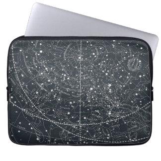 Mapa de la constelación del vintage funda para ordenador