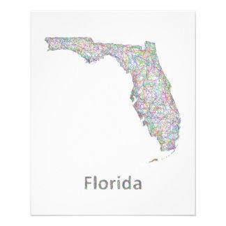 Mapa de la Florida Folleto 11,4 X 14,2 Cm
