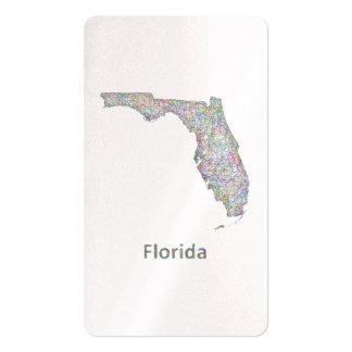 Mapa de la Florida Tarjetas De Visita