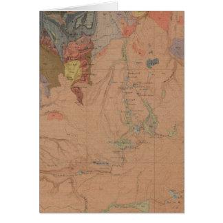 Mapa de la geología, pieza nacional de Yellowstone Tarjetas