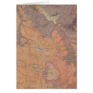 Mapa de la geología, pieza nacional de Yellowstone Tarjeta De Felicitación