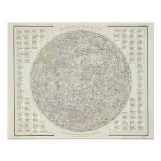 Mapa de la luna póster