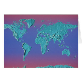 Mapa de la masa de la tierra tarjetas