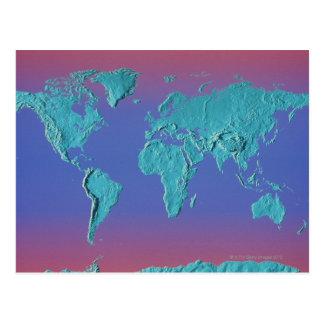 Mapa de la masa de la tierra postal
