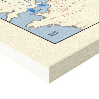"Mapa de la ""octava"" campaña poderosa americana del lienzo"