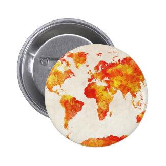 Mapa de la pintura del extracto del mapa del mundo pin