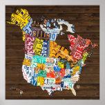 Mapa de la placa de Norteamérica: Hawaii más Impresiones