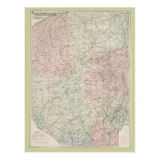Mapa de la postal 1912 del Adirondacks