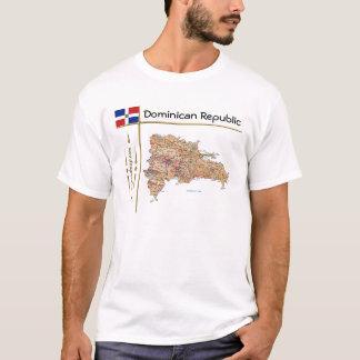 Mapa de la República Dominicana + Bandera + Camiseta