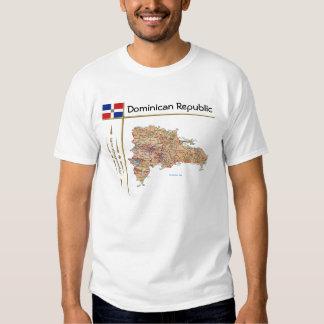 Mapa de la República Dominicana + Bandera + Camisetas
