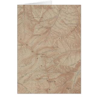 Mapa de la topografía pieza nacional de Yellowsto Tarjeton