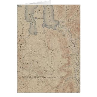 Mapa de la topografía pieza nacional de Yellowsto Felicitaciones