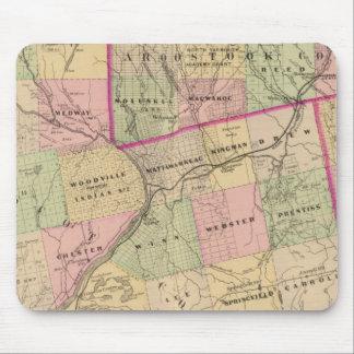 Mapa de las tierras 3 de la madera alfombrilla de ratón