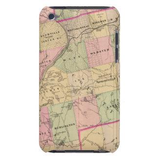 Mapa de las tierras 3 de la madera funda Case-Mate para iPod