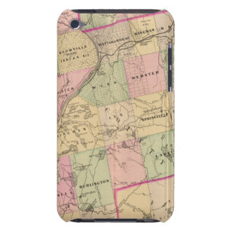 Mapa de las tierras 3 de la madera iPod Case-Mate cárcasa