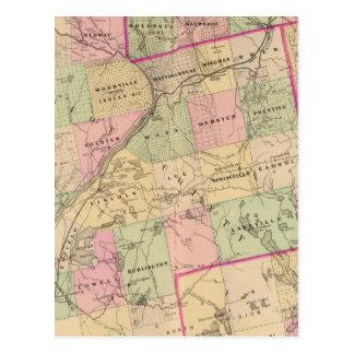 Mapa de las tierras 3 de la madera postal