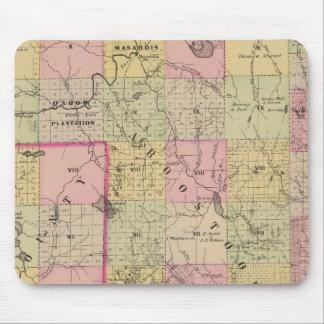 Mapa de las tierras 4 de la madera alfombrilla de ratón