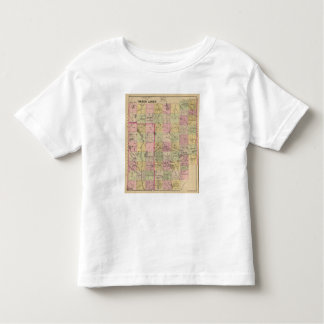 Mapa de las tierras 4 de la madera camiseta de niño