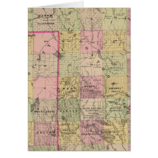 Mapa de las tierras 4 de la madera tarjeta de felicitación
