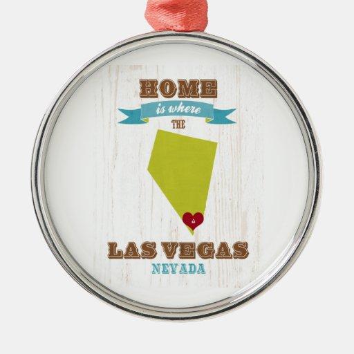 Mapa de Las Vegas, Nevada - casero es donde está e Ornamento Para Reyes Magos