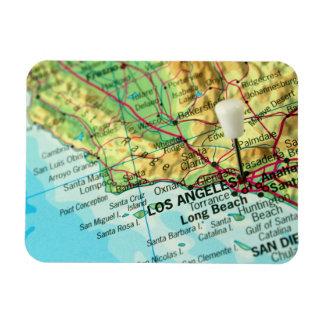 Mapa de Los Ángeles, California Imanes Flexibles