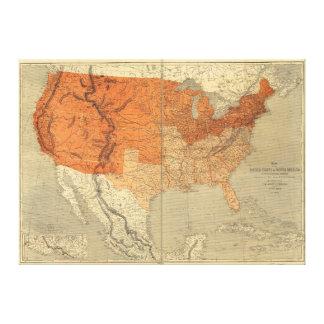 Mapa de los Estados Unidos (1861) Lienzo