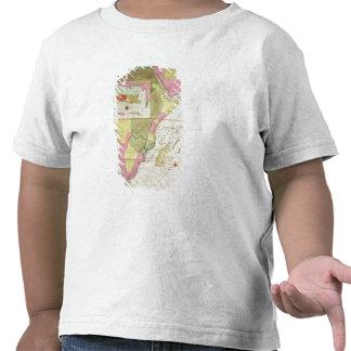 Mapa de los países de África Camisetas