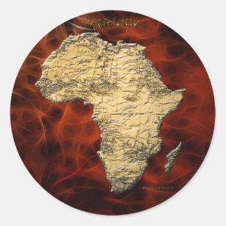 Mapa de los pegatinas continentes oscuros del arte pegatinas redondas