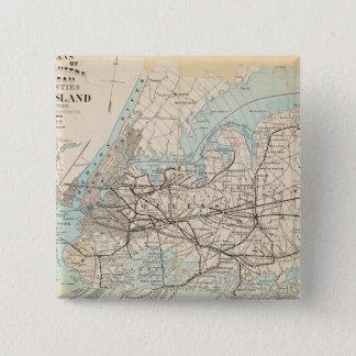 Mapa de los reyes, Queens, Long Island Chapa Cuadrada