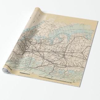 Mapa de los reyes, Queens, Long Island Papel De Regalo