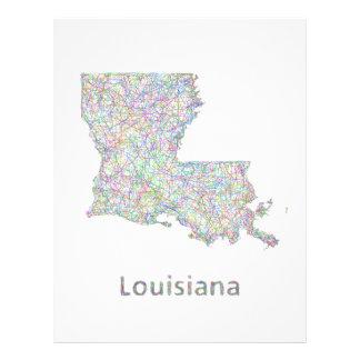 Mapa de Luisiana Folleto 21,6 X 28 Cm