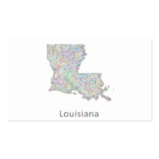 Mapa de Luisiana Tarjetas De Visita