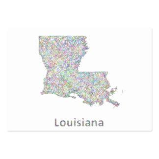 Mapa de Luisiana Tarjetas De Visita Grandes