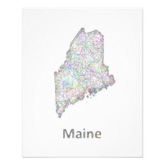 Mapa de Maine Folleto 11,4 X 14,2 Cm