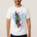 Mapa de Manhattan del codificado por color Camiseta