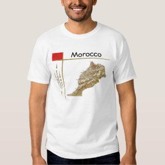 Mapa de Marruecos + Bandera + Camiseta del título