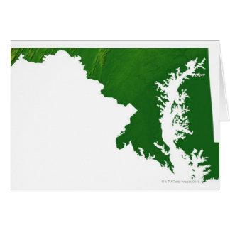 Mapa de Maryland 3 Tarjeta De Felicitación