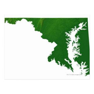 Mapa de Maryland 3 Postales