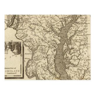 Mapa de Maryland por Arrowsmith Postal