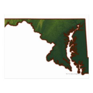 Mapa de Maryland Postal